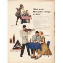 "1953 Blatz Beer Ad ""What made Milwaukee change"""