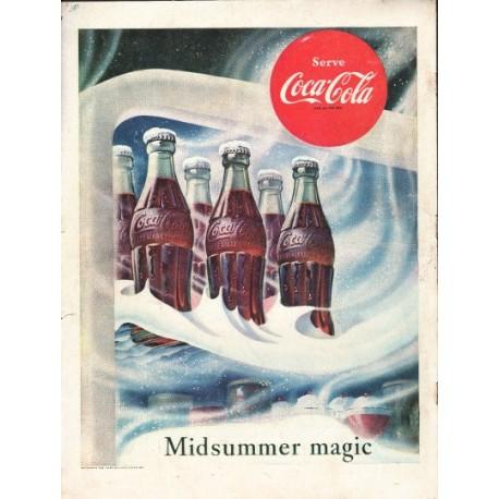"""1953 Coca-Cola Ad """"Midsummer magic"""""""