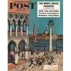 "1961 Saturday Evening Post Cover Page ""on the Piazzetta"" ~ June 10, 1961"