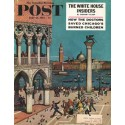 """1961 Saturday Evening Post Cover Page """"on the Piazzetta"""" ~ June 10, 1961"""
