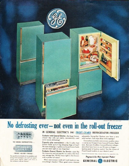 1961 General Electric Refrigerator Vintage Ad Quot No