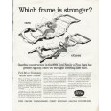 "1961 Ford Motor Company Ad ""Which frame is stronger"""