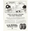 "1961 U.S. Royal Tires Ad ""Too much flexing"""