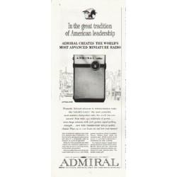 "1961 Admiral Radio Ad ""great tradition"""