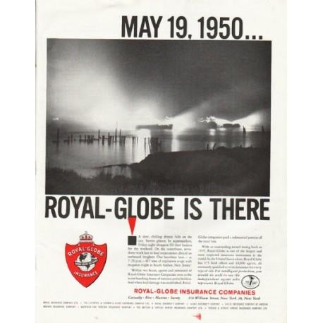 """1961 Royal-Globe Insurance Companies Ad """"May 19, 1950"""""""