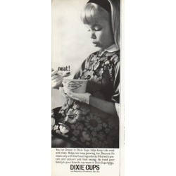 "1961 Dixie Cups Ad ""neat!"""