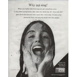 "1961 Dial Soap Ad ""Why not sing!"""