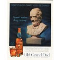 "1961 Old Grand-Dad Kentucky Straight Bourbon Ad ""Featured member"""