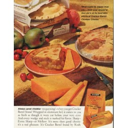 "1961 Cracker Barrel Cheese Ad ""Always great cheddar"""