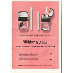 "1961 Scripto VU-lighter Ad ""tall and short of it"""