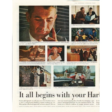 "1961 The Hartford Insurance Group Ad ""your Hartford Agent"""