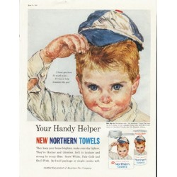 "1961 Northern Towels Ad ""So much to do"""