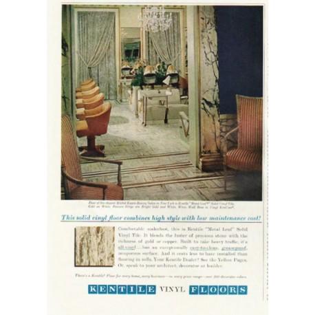 "1961 Kentile Vinyl Floors Ad ""high style"""