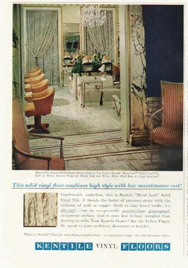 1961 Kentile Vinyl Floors Vintage Ad Quot High Style Quot