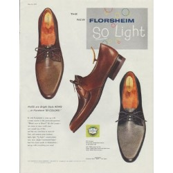 "1958 Florsheim Shoes Ad ""So Light"""