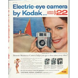"1961 Eastman Kodak Company Ad ""Electric-eye camera"""