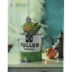 "1961 Fuller Interior Wall Paint Ad ""piggy bank fuller"""