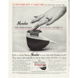 "1961 Norelco Speedshaver Ad ""Downright Comfort"""