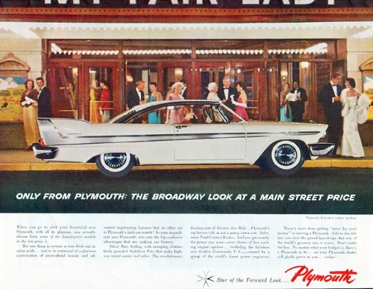 1958 Plymouth Belvedere Ad Quot The Broadway Look Quot