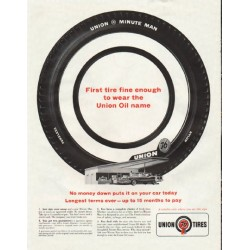 "1961 Union 76 Tires Ad ""wear the Union Oil name"""