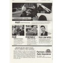 "1961 Farmers Auto Insurance Ad ""Fast - Fair - Friendly"""