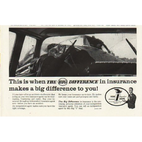 """1961 National Association of Insurance Agents Ad """"The Big Difference"""""""