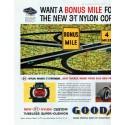 """1958 Goodyear Ad """"Bonus Mile"""""""