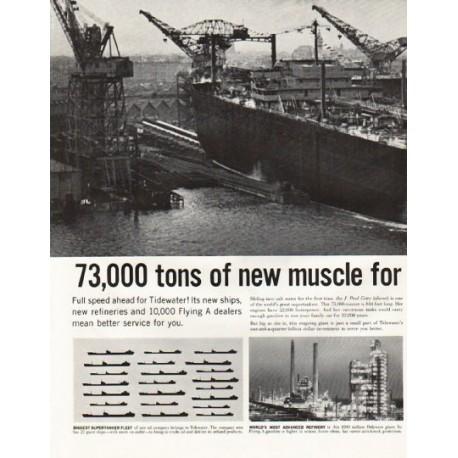 "1961 Tidewater Oil Company Ad ""J. Paul Getty"""