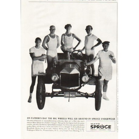 "1961 Mayo Spruce Ad ""On Father's Day"""