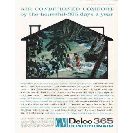 "1961 GM-Delco Conditionair Ad ""by the houseful"""