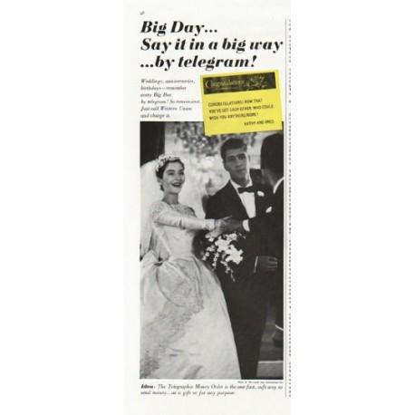 """1961 Western Union Ad """"Big Day"""""""
