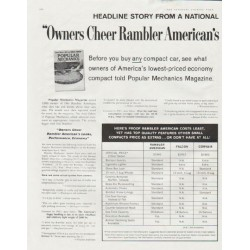 "1961 Rambler Ad ""Owners Cheer Rambler"" ~ (model year 1961)"