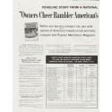 """1961 Rambler Ad """"Owners Cheer Rambler"""" ~ (model year 1961)"""