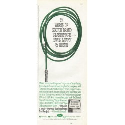 "1961 Scotch Brand Plastic Tape Ad ""5 cents' worth"""