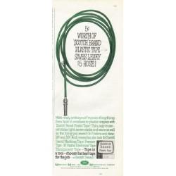 "1961 Scotch Brand Plastic Tape Ad ""5 cents' worth"""