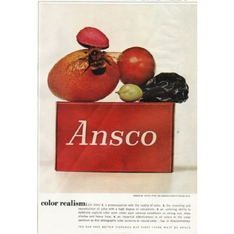"""1961 Anscochrome Color Film Ad """"color realism"""""""