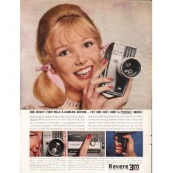"1962 Revere Movie Camera Ad ""she just got a perfect movie"""