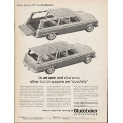 "1963 Studebaker Lark Wagonaire Ad ""open and shut case"" ~ (model year 1963)"