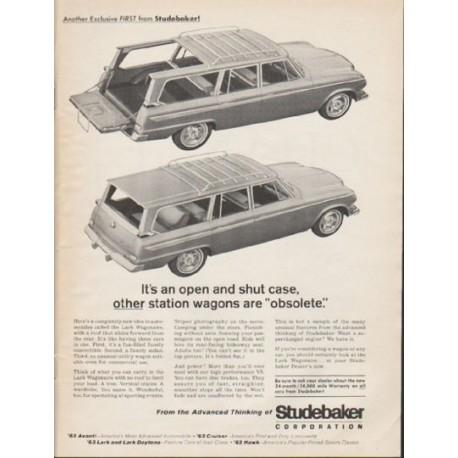 "1963 Studebaker Lark Wagonaire Ad ""open and shut case"" ~ (model year 1963)"