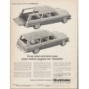 "1962 Studebaker Lark Wagonaire Ad ""open and shut case"" ~ (model year 1963)"