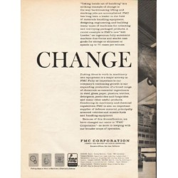 "1962 FMC Corporation Ad ""Change"""