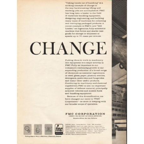 """1962 FMC Corporation Ad """"Change"""""""