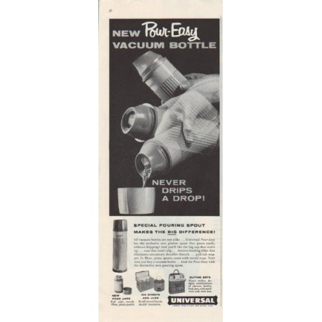 "1958 Universal Vacuum Bottle Ad ""Pour-Easy"""