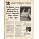 """1962 Merriam-Webster Dictionary Ad """"This Christmas"""""""
