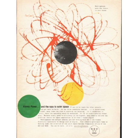 "1962 Westinghouse Ad ""Atomic Power"""