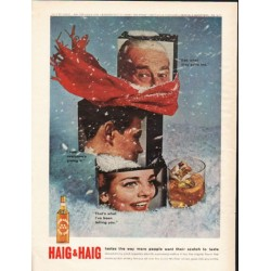 "1962 Haig & Haig Scotch Whisky Ad ""tastes the way"""