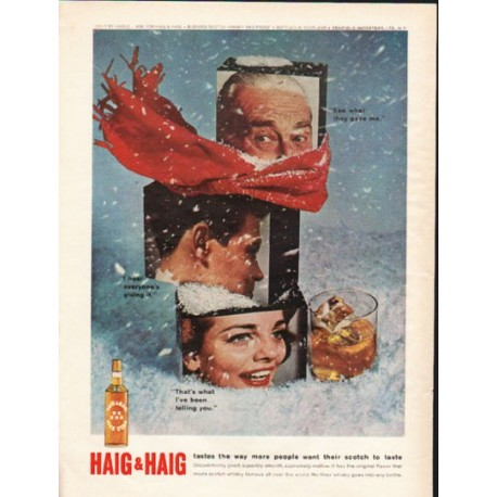 "1962 Haig & Haig Scotch Whisky Ad ""tastes the way"""