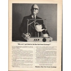 """1962 Members New York Stock Exchange Ad """"Why can't I get listed"""""""