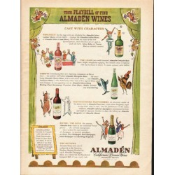 "1962 Almaden Wines Ad ""Your Playbill"""