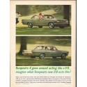 """1963 Pontiac Tempest Ad """"goes around acting like a V-8"""" ~ (model year 1963)"""